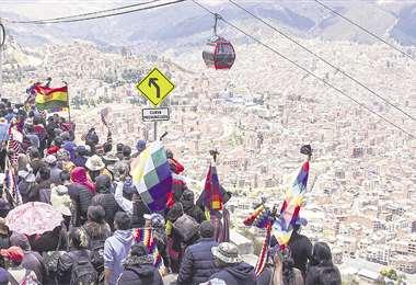El Alto es uno de los últimos focos de conflicto del país después de las elecciones del 20 de octubre. Su pacificación es clave para el Gobierno. Foto: AFP