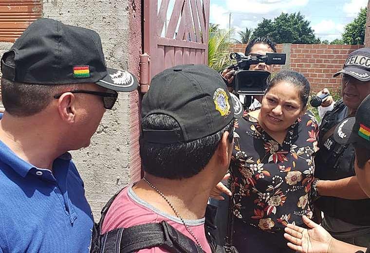 Choque brindó una conferencia de prensa en su domicilio en Montero. Foto: Juan Carlos Fernández