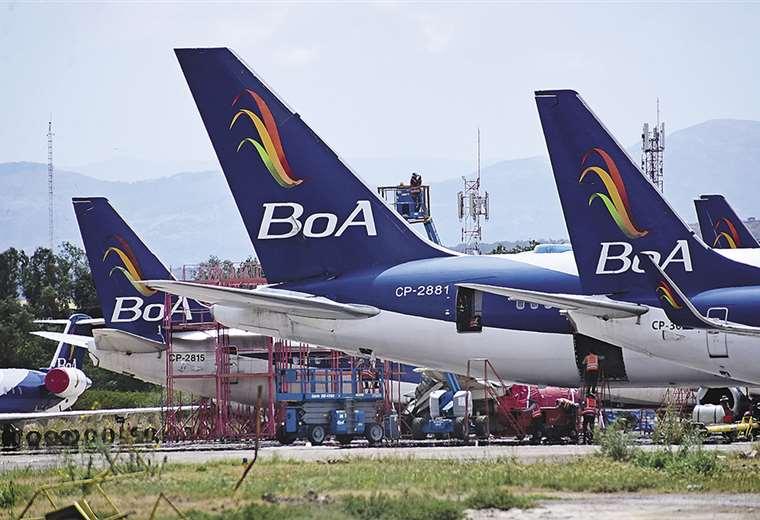 BoA reemplazará su flota Boeing 737-300 y 737- 500 por los Boeing 737 Next Generation.  Foto: Los Tiempos