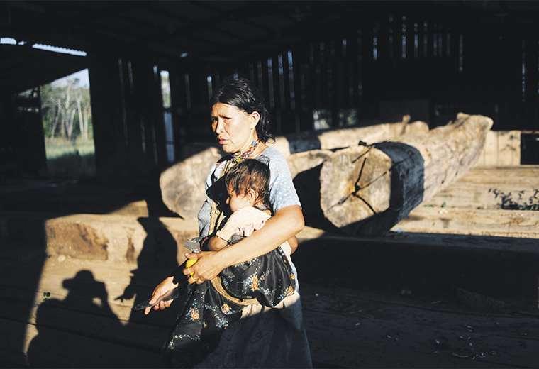 Saldos. El pasado se congeló en lo que era el aserradero San Ambrosio, donde quedaron fardos de madera envejecida con los años
