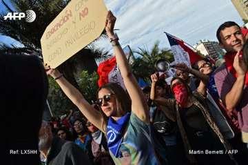 Las manifestaciones en las ciudades chilenas no cesan. Foto: AFP