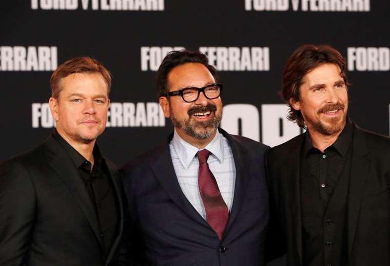 Los actores Christian Bale y Matt Damon junto con el director James Mangold IFoto: EFE
