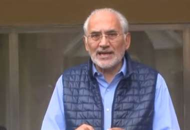 Carlos Mesa se pronunció en La Paz