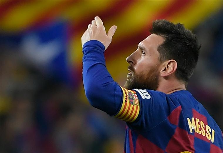 Lionel Messi, capitán del Barcelona. Foto: AFP