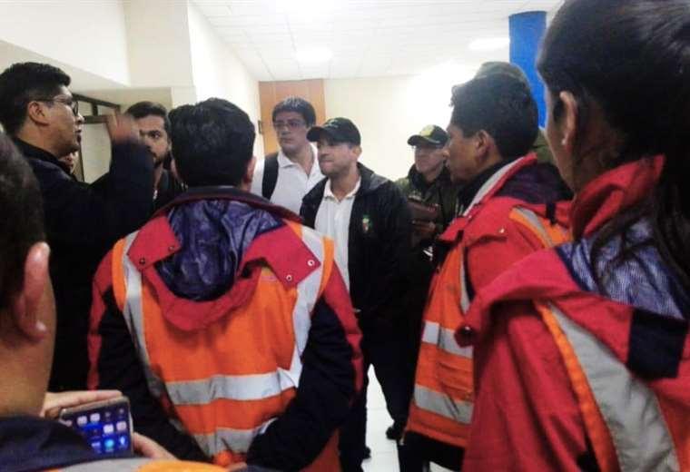 Luis Fernando Camacho, al llegar a La Paz. Foto: Redes
