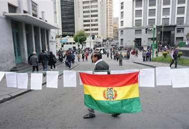 Tensión en La Paz por las movilizaciones por la defensa del voto y contra el paro. Foto: APG