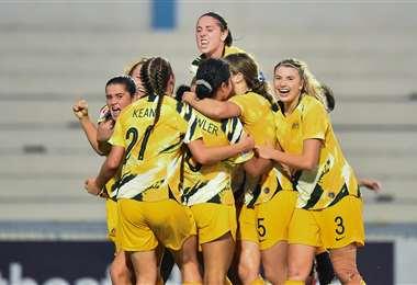 Las jugadoras de la selección femenina de fútbol de Australia. Foto: @TheMatildas
