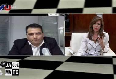 Álvaro Andrada, de Ethical Hacking, en entrevista con Ximena Galarza. Foto: TVU