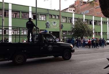 Los policías decidieron amotinarse en la UTOP de Cochabamba (Foto: Humberto Ayllón)