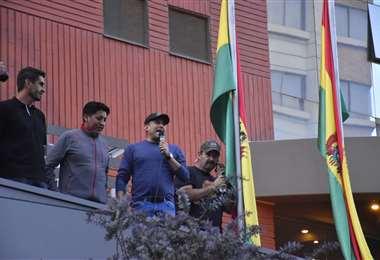 Los representantes cívicos en la zona Sur de La Paz I Foto: APG Noticias.