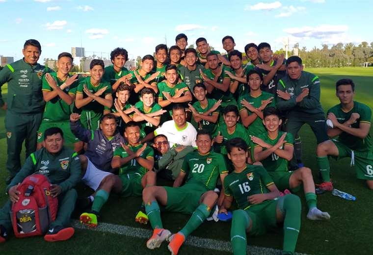 La selección sub 15 cumple una gira por el exterior para llegar en buenas condiciones al Sudamericano. Foto. Prensa FBF