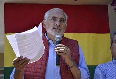 El expresidente en conferencia de prensa I Foto: APG Noticias.