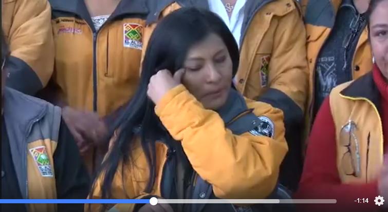 La alcaldesa de El Alto durante un pronunciamiento público I Foto: captura.