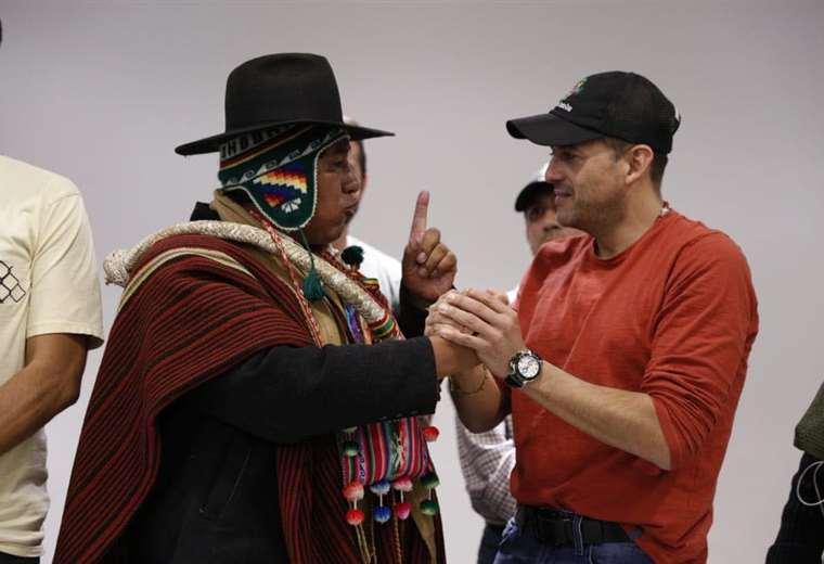 Condori y Camacho (Foto Comité Cívico)
