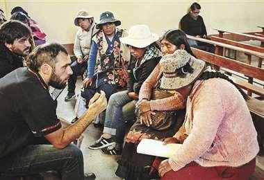 Recogieron testimonios de personas afectadas en días pasados