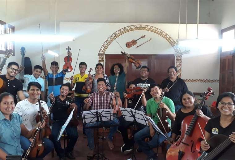 Los integrantes de orquestas que participaron del taller organizado por el Cepad
