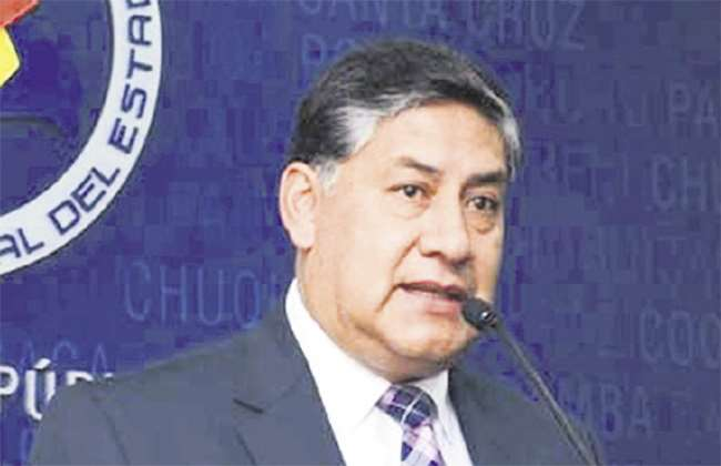 El fiscal general del Estado, Juan Lanchipa. Foto: APG Noticias