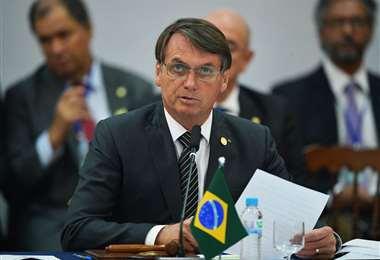 Bolsonaro está a punto de cumplir un año en el poder en Brasil. Foto: AFP