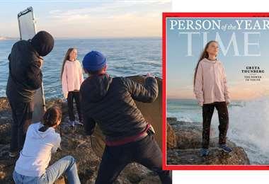 La sesión de fotos de Greta Thunberg para Time