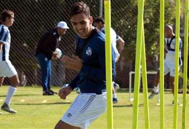 Luis Haquin retornó al trabajo normal. Foto: Club Puebla