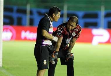 Miguel Mercado durante el partido contra Blooming. Foto: Fuad Landívar