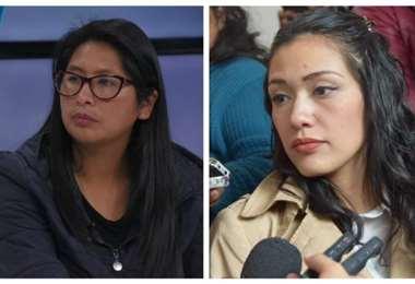 Sigue la polémica entre ambas figuras del MAS I Foto: archivo.