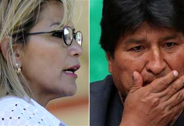 Jeanine Áñez (AFP) y Evo Morales (EFE)