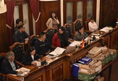 Los documentos de los postulantes en el hemiciclo I Foto: APG Noticias.