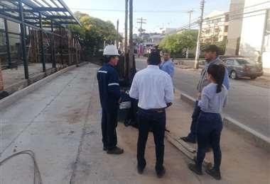 Este lunes responsables del municipio se apersonaron par ver los avances en los trabajos