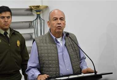 La autoridad en conferencia de prensa I Foto: Gobierno.