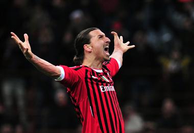 Zlatan Ibrahimovic volvió al Milán. Foto: AFP