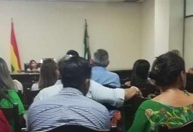 La audiencia de cesación a la detención preventiva de Saavedra se realizó este viernes. Foto: Fiscalía