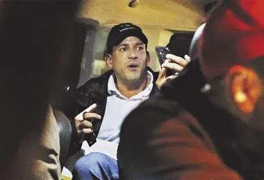 En un video, Camacho aparece explicando la intervención que hizo el ministro Fernando López. Foto: APG