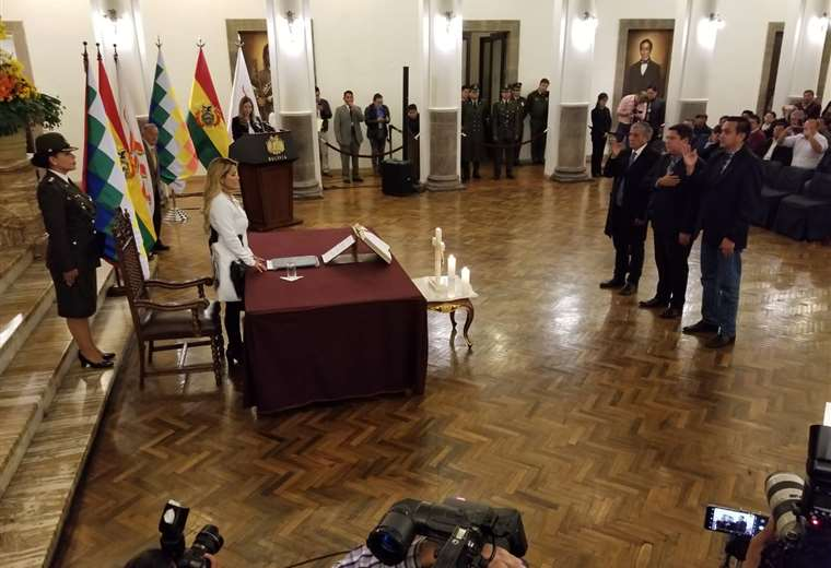 El acto tuvo lugar en Palacio Quemado I Foto: periódico 'Bolivia'