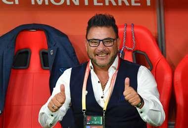 Antonio Mohamed, director técnico de Monterrey. Foto. AFP