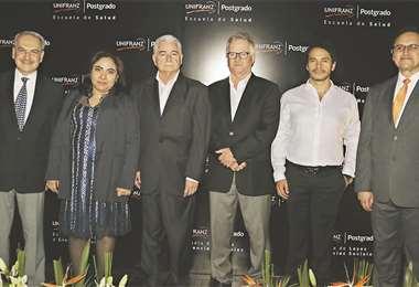 Autoridades. Carlos Dabdoub, Verónica Ágreda, Wilfredo Rojo, Pedro Rivero, Óscar Ágreda y Emilio Evia. Fotos: ÁNGEL FARELL.