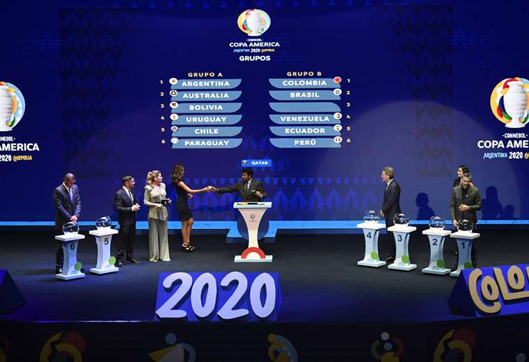 El sorteo de la Copa se llevó a cabo este martes en la ciudad de Cartagena (Colombia). Foto. AFP