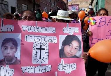 En la actualidad es posible contabilizar los casos de feminicidios en el país. Foto: Página Siete