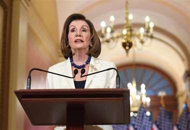 La presidenta de la Cámara Baja, Nancy Pelosi   Foto: AFP