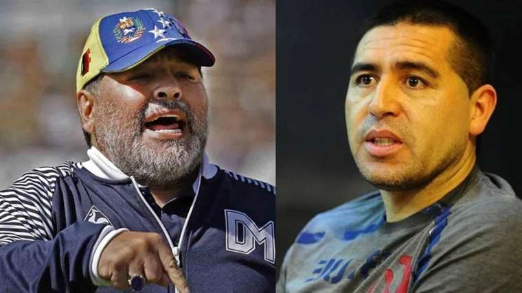 Diego Armando Maradona critica la postulación de Juan Román Riquelme a la vicepresidencia de la institución xeneize. Foto. Internet