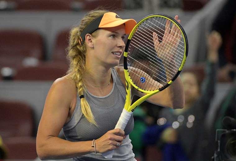 Wozniacki colgará oficialmente la raqueta a sus 29 años. Foto. AFP