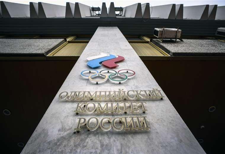 Sede del Comité Olímpico Ruso. Foto. AFP