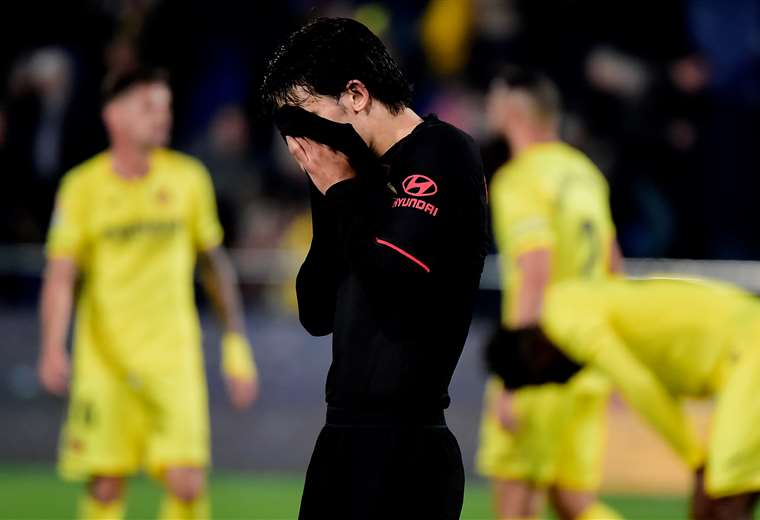 Las frustración de João Félix que llegó como promesa de gol para el Atlético de Simeone. Foto: AFP