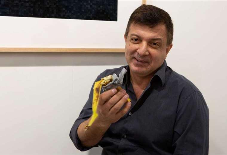 Datuna fue retirado de la galería tras comerse la fruta. Foto: RTVE