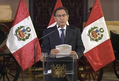 El presidente Vizcarra comunicó su decisión en un mensaje a la nación.