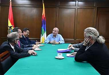 La reunión con diplomáticos europeos se realizó este martes Foto: Min de Gobierno