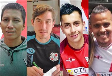 Áñez, Rodríguez, Suárez y Cuéllar, los nuevos refuerzos de Nacional Potosí. Foto: Facebook