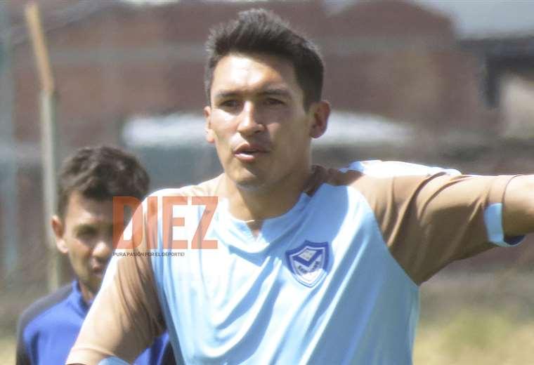 Marcos Barrera durante su última práctica con San José en Oruro. Foto: Etzhel A. Llanque
