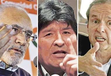 El llamado de Evo Morales, a través de una radio comunitaria, causó repercusiones entre políticos bolivianos como Carlos Mesa y Tuto Quiroga. Fotos: APG