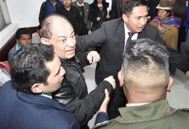 La exautoridad ingresando a la Fiscalía I Foto: APG Noticias.